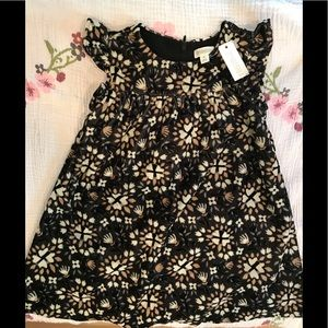 GYMBOREE NWT Girl BLack floral holiday dress